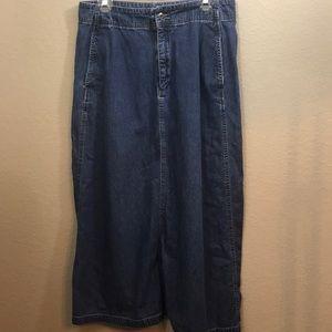 Eddie Bauer long denim skirt size 12